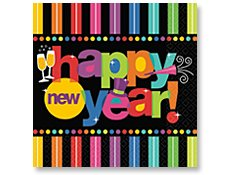 Bright New Year Lunch Napkins 125 per pack