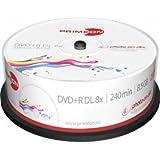 Primeon 2761252 DVD+R Rohlinge (8x Speed, 8.5GB, 240 Min, 25er Spindel)