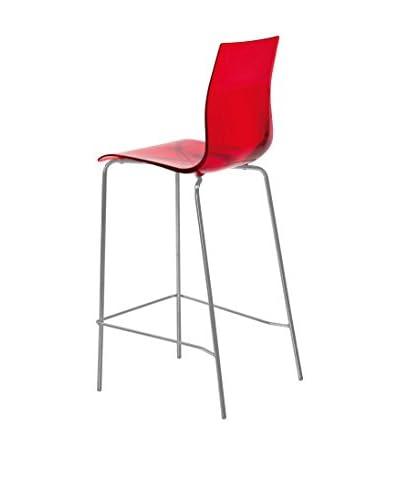 Domitalia Gel Stool, Transparent Red
