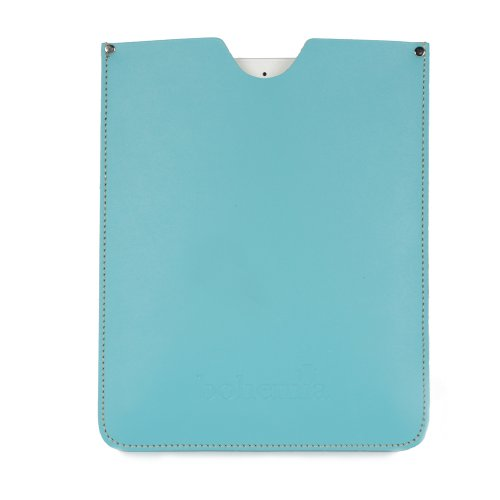Leather iPad Case, Aquamarine