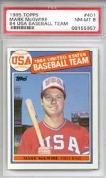 1985 Mark McGwire Topps Baseball MLB Rookie Cards - Professionally Graded a PSA 8... by Topps