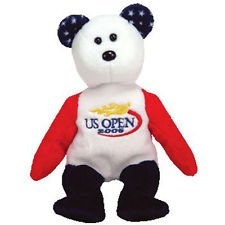 1 X Smash the US Open Tennis Bear - Ty Beanie Babies