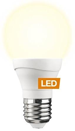 2er Set 7 Watt LED Leuchtmittel 580 Lumen E27 Sockel weiß opal Glas Kugel 3000 K