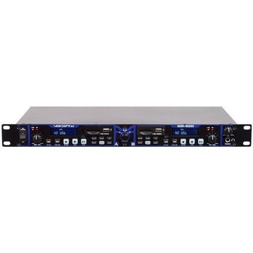 VOCOPRO SDR-4000 Dual Digital USB/SD Audio Recorder