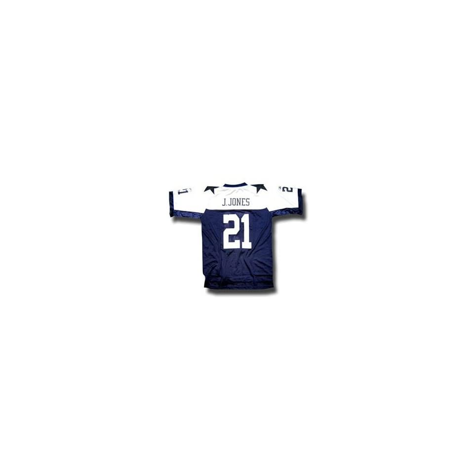 Julius Jones #21 Dallas Cowboys NFL Authentic Thanksgiving Day Player Jersey by Reebok (Navy Blue)