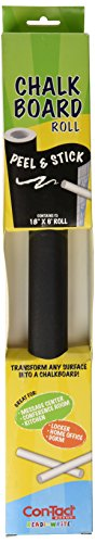 Con-Tact Readi-Write Chalkboard Roll of Contact Paper, 18-Inch x 6-Feet, Black (06F-C82020-06) - 1
