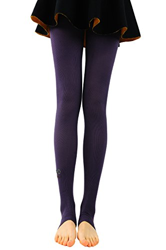 Bonas Women's Mustache Pattern Stirrup Leggings-Purple (Mustache Pantyhose)