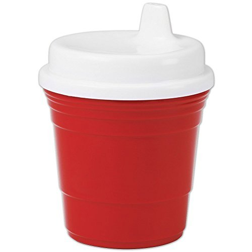 Durable Plastic 8 Oz. Red Solo Cup Baby Sippy Cup With Snug Spill Proof Lid
