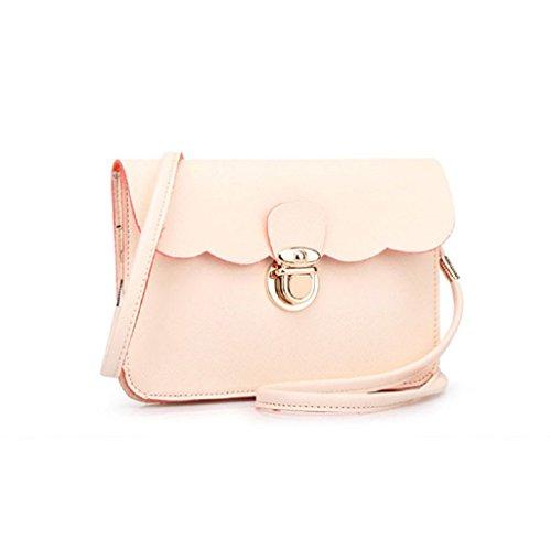 Borsa Familizo Elegant A tracolla in pelle delle donne pochette borsetta Tote borsa Hobo Messenger (Beige)