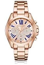 Michael Kors Women's 'Bradshaw' Quartz Stainless Steel Casual Watch, Color:Rose Gold-Toned (Model: MK6321)