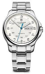 Victorinox 241548-1 Watch Officers Mens- Silver Dial Stainless Steel Case