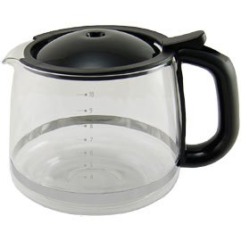 KRUPS XS1500 10-Cup Glass Carafe for KRUPS Combi Machines, Black by Krups