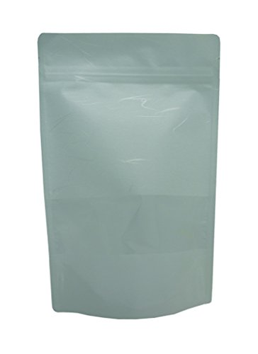 16 oz. White Rice Paper Stand Up Zip Pouch w/ Window (Rice Paper Pouches compare prices)