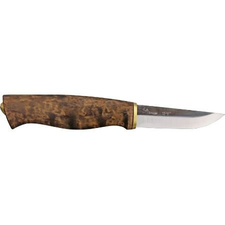 Kellam Knives PW3 Wolverine Pro Fixed Blade Knife with Stained Curly Birch Handles