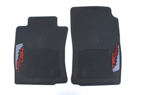 Genuine Toyota Accessories PT908-350RW-02 Front All-Weather Floor Mat - (Black), Set of 2 by Toyota (All Weather Mat Cleaner compare prices)