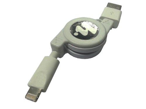 HORIC(Hi.PREGIO) iPhone5対応 Lightning ライトニング USBケーブル 80cm リールタイプ HAPJ-211WH