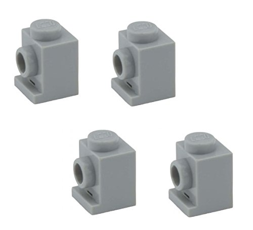 Lego Parts: Brick, Modified 1 x 1 with Headlight (PACK of 4 - LBGray) - 1