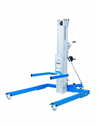"Genie Super Lift Advantage, SLA- 5, Straddle Base, 1000 lbs Load Capacity, Lift Height 6' 7"" from Ground Level, Load & Transport with Single User"
