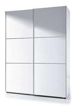 Habitdesign ARC150BO - Armario corredera, color Blanco Brillo, dimensiones 150 x 200 x 63 cm de fondo