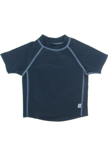 Baby Infant Toddler Boy Short Sleeve Rashguard Swim T-Shirt By Iplay,3T / 30-38 Lbs,Navy front-214514
