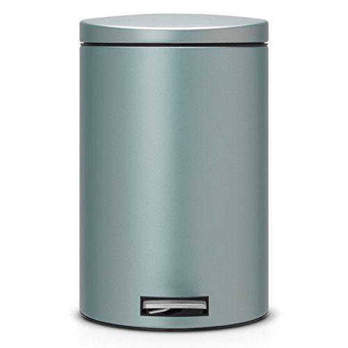 wohnzimmer küche trennen:Treteimer 20 L Silent mit Kunstoff- und Bioeinsatz / Metallic Mint