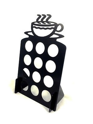 Holds 12 Coffee Keurig K Cups tree pod holder Black Acrylic (12 Cups Verisimo Starbuck Coffee compare prices)