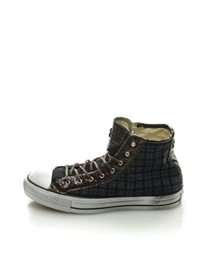 Converse Sneaker All Star Hi Canvas/Txt Ltd [Blu/Marrone]