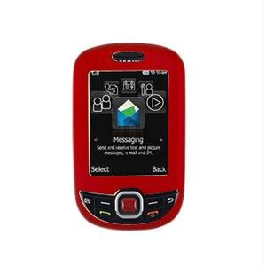 Rubberized SnapOn Cover for Samsung T359 Smiley - Red