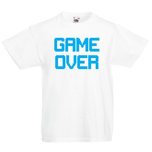 funny-t-shirts-for-kids-game-over-vintage-t-shirts-funny-gamer-gifts-gamer-shirt-7-8-years-white-blu