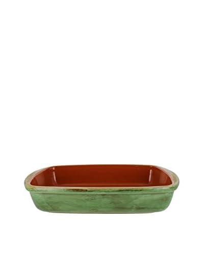 COLI Italian Stoneware Classic Rectangular Baker, Cilantro Green