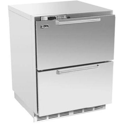 Perlick Hp24rs-6 5.3 Cu. Ft. Capacity Built In Compact Refrigerator - Integrated Custom Panel Drawers / Stainless Steel Cabinet