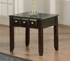 Cheap End Table with Drawers Design in Espresso (VF_F6213)