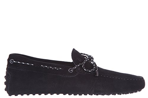 tods-mens-suede-loafers-moccasins-laccetto-gommini-122-black-us-size-9-xxm0gw05473re0b999