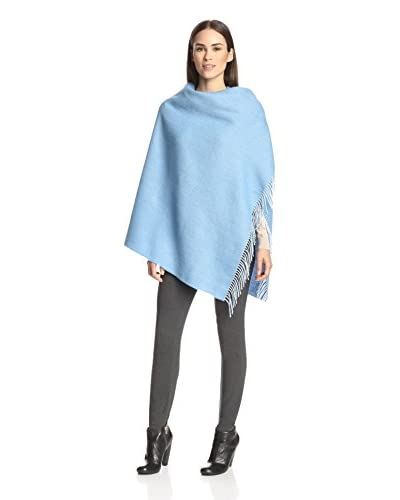 Alicia Adams Alpaca Women's Herringbone Wrap, Sky Blue