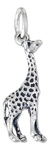 Sterling Silver Three Dimensional Giraffe Charm