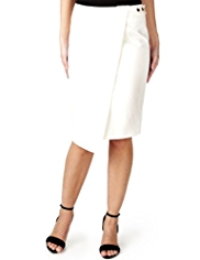 Per Una Speziale Cotton Rich Asymmetric Hem Pencil Skirt