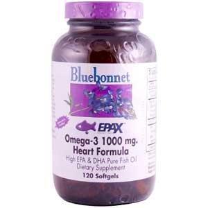 Bluebonnet - Natural Omega-3 Heart Formula - 120 Softgel ,Gluten-Free front-59388
