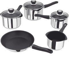 Judge Vista 5 Piece Draining Saucepan Set (Ref CL J3C1E)