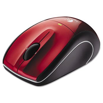 LOGITECH M505 Wireless Mouse Unifying USB Receiver Red Critical Laser Traking Sleek Ergonomic
