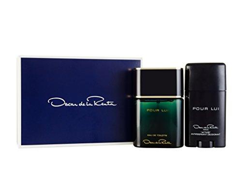 Oscar de la Renta Pour Lui 90 ml Eau de spruzzo Toilette plus 75 ml antitraspirante Deodorant Stick set regalo per esso, 1 Pack (1 x 90 ml)