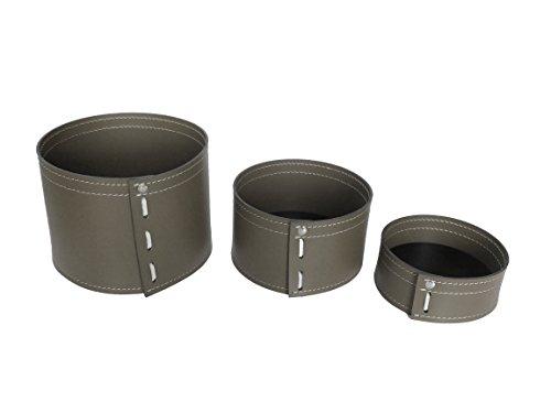 KOME 532: Set svuota tasche in cuoio rigenerato composto da 3 pezzi, colore Tortora.