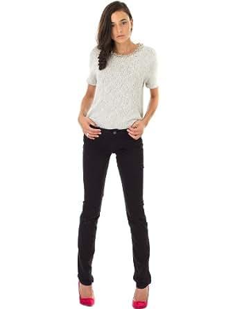 Jeans Peps Slim Peps Slim7/8 Soft Touch Noir TEDDY SMITH W26 Femme
