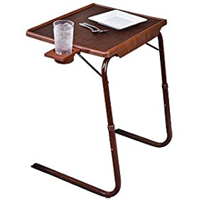 Tablemate With Cup Holder Woodgrain Finish Tv Tray