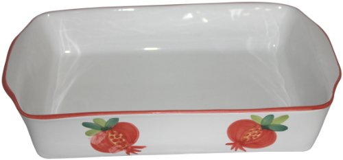 CALECA 447/733 Melograno Rectangular Baking Dish, Large