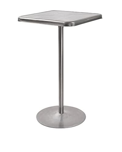 LumiSource Indy Bar Table, Silver