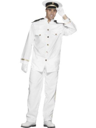 Karneval-Herren-Kostm-Schiff-Navy-Kapitn-Marine-Uniform-wei-GrM