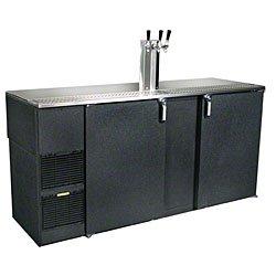 "Glastender Kc72-L1-Bs(Lr) 72"" Stainless Steel Top Three Keg Direct Draw Beer Dispenser"