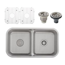 "Best Review Of Ticor S1210 Stainless Steel 16 Gauge 32.5"" Wide Undermount Kitchen Sink with 50/..."
