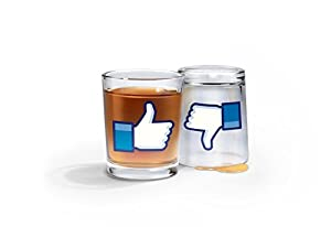 Fred I Like Shots Thumbs-Up/Thumbs-Down Shotglasses, Set of 2