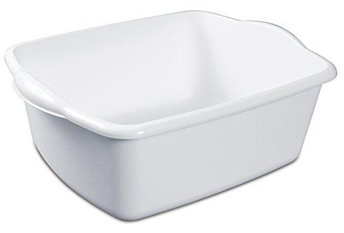 Sterilite White 12Qt Dishpan (Plastic Soaking Tub compare prices)